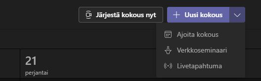 JäOestä kokm.s nyt  21  pejantai  Ajoita kokous  Verkkoseminaari  Livetapahtuma